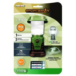 Rayovac - SP1W3AALN-BA - Sportsman 1 Watt Mini Lantern With Batteries
