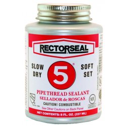 Rectorseal - 25300 - Rectorseal 25300 1 Qt. Can No. 5 Pipe Thread Sealant - 12 Pack