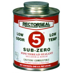 Rectorseal - 27541 - Rectorseal 27541 1 Pt. Can No. 5 Sub-Zero Pipe Thread Sealant - 12 Pack