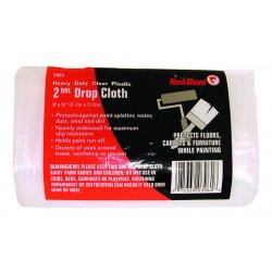 Red Devil - 3962 - 2-mil. 9'x12' Plastic Drop Cloth