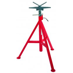 RIDGID - 56662 - V-Head Pipe Stand, 1/8 to 12 Pipe Capacity, 28 to 52 Overall Height, 2500 lb. Load Capacity