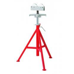RIDGID - 56672 - Roller Head Pipe Stand, 1/8 to 12 Pipe Capacity, 32 to 55 Overall Height, 1000 lb. Load Capacity