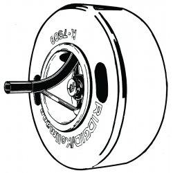 RIDGID - 61107 - Drum Asm 5/8 W/pigtailk