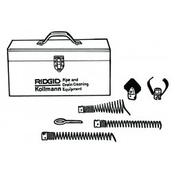RIDGID - 61625 - Ridgid A-61 Standard Equipment Tool Kit (Includes Straight, Funnel, Spade Cutter And Retrieving Auger, Sharktooth Cutter, Tool Box And Pin Key) (For Use With K-60-SE Sectional Machine), ( Kit )