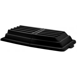 Rubbermaid - FG102800BLA - Hinged Dome Tilt Truck Lid, 31 3/4w x 61d x 8 3/4h, Black