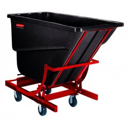 Rubbermaid - 1054-43-BLA - 1/2 Dumper W/c*, Ea