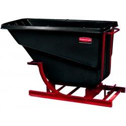 Rubbermaid - FG106900BLA - Self-Dumping Hopper, 2 Cubic Yard, 1000 lb Capacity, Black/Red