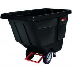 Rubbermaid - FG130400 BLA - Rotomolded Tilt Truck, Rectangular, Plastic, 450-lb Cap., Black