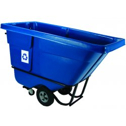 Rubbermaid - 1305-73-BLUE - Recycling Tilt Truck Stnd Duty Rotational Molded