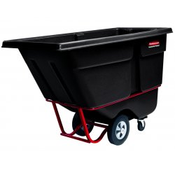 Rubbermaid - 131500BLA - Commercial Rotomolded Tilt Truck, Rectangular, Plastic, 1250-lb Cap., Black