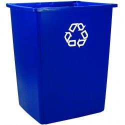 Rubbermaid - 256B-73-BLUE - Glutton Recycling Container