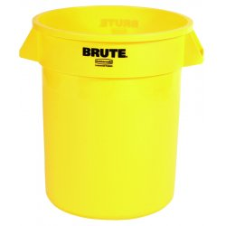 Rubbermaid - FG262000YEL - Round Brute Container, Plastic, 20 gal, Yellow