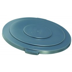 "Rubbermaid - RCP 2631 YEL - Round Flat Top Lid, for 32-Gallon Round Brute Containers, 22 1/4"", dia., Yellow"