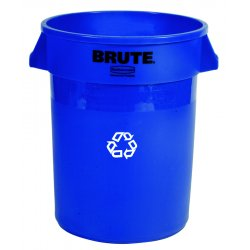 Rubbermaid - 2632-73-BLUE - 32 Gal Brute Recycling Container Without Lid