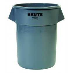 Rubbermaid - 2655-GRAY - 55gal Brute Container W/o Lid Trash Can G, Ea