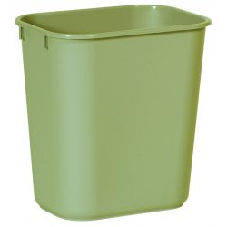 "Rubbermaid - 2955-BEIG - Small Rectangular Wastebasket 11-3/8""x8-1"