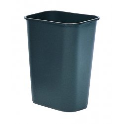 "Rubbermaid - 2957-GRAY - 41-1/4qt. Rectangular Wastebasket 15-1/4""x11"", Ea"