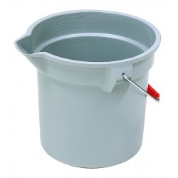 Rubbermaid - 2963-GRAY - 10qt Round Brute Bucketgray, Ea