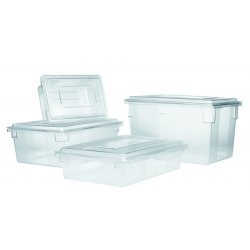 Rubbermaid - RCP 3301 CLE - Food/Tote Boxes, 21 1/2gal, 26w x 18d x 15h, Clear