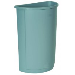 Rubbermaid - 3520-GRAY - 21gal Waste Receptacle Gray Half Round, Ea