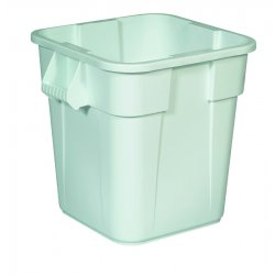 Rubbermaid - 3526-WHT - 28-gal Square Brute Container, Ea
