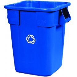 Rubbermaid - 3536-73 BLUE - Brute Recycling Container, Square, Polyethylene, 40 gal, Blue