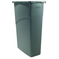Rubbermaid - 3540-BEIG - 23gal Slim Jim Waste Receptacle, Ea