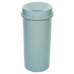 Rubbermaid - 3546-GRAY - 22gal Waste Receptacleround Base, Ea
