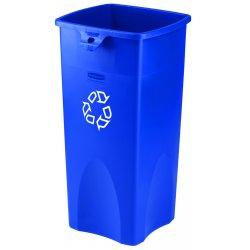 Rubbermaid - FG356973BLUE - 23 gal. Blue Stationary Recycling Container, Open Top