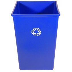 Rubbermaid - RCP 3958-73 BLU - Recycling Container, Square, Plastic, 35gal, Blue