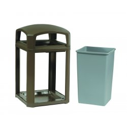 Rubbermaid - 3975-01-SBLE - 45-gal. Sable Landmark Series Container D, Ea
