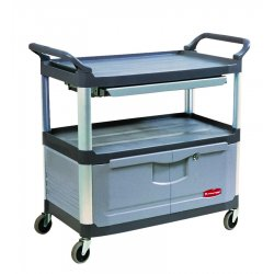 Rubbermaid - 4094-GRAY - 300lb. Cap. X-tra Instrument Cart W/lock, Ea