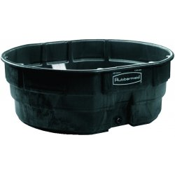 Rubbermaid - 4247-BLA - 300 Gal Stock Tank Blk