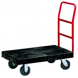 "Rubbermaid - FG443610BLA - Heavy-Duty Platform Truck Cart, 1200lb Capacity, 24"" x 48"" Platform, Black"