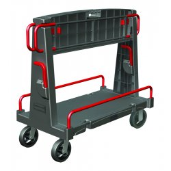 Rubbermaid - 4465 - A-Frame Panel Convertible Truck, 2000lb Cap, 27 1/4 x 50 1/4 x 49 1/2, Black/Red