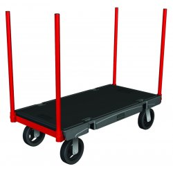 Rubbermaid - 4481-BLA - Stanchion Platform Truck24x36