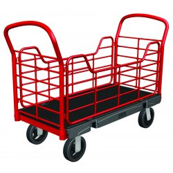 Rubbermaid - FG448800BLA - Rubbermaid FG448800BLA Platform Truck, removable side panels, 68' x 30', 8' rubber casters