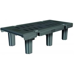 Rubbermaid - FG449000BLA - Dunnage Rack, 2000 lbs, 48w x 24d x 12h, Duramold Resin/Metal Composite