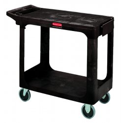 Rubbermaid - 4505-BLA - 500 Lb Capacity Flat Shelf Cart Black, Ea