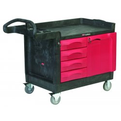 Rubbermaid - FG453388BLA - 49 x 26-1/4 x 38 Black Trade Cart/Service Bench, 750 lb. Load Capacity