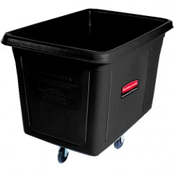 Rubbermaid - FG461400BLA - Cube Truck, Rectangular, 500-lb. Cap., Black