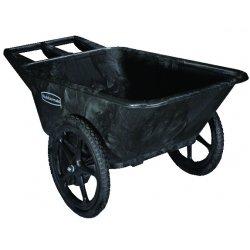 Rubbermaid - RCP 5642 BLA - Big Wheel Agriculture Cart, 300-lb Cap, 32-3/4 x 58 x 28-1/4, Black