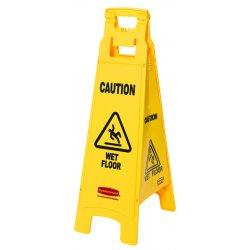 Rubbermaid - 6114-77-YEL - Floor Sign W/caution Wetfloor Imprint4-si
