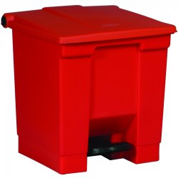 Rubbermaid - 6143-RED - 8-gal Step-on Trash Container