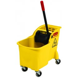 Rubbermaid - RCP 7380 YEL - Tandem 31qt Bucket/Wringer Combo, Yellow