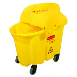 Rubbermaid - RCP 7590-88 YEL - WaveBrake Institutional Bucket/Strainer Combo, 8.75gal, Yellow