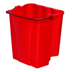 Rubbermaid - 9C74-RED - Red 18 Qt Capacity Dirtywater Bucket, Ea
