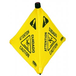 Rubbermaid - 9S00 - Rubbermaid 9S00 Pop-Up Safety Cone, Multi-Lingual Caution Wet Floor; 20'H