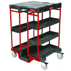 Rubbermaid - 9T57 - Black 500lb. Capacity Ladder Cart, Ea