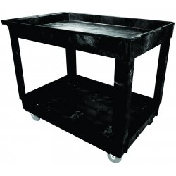 "Rubbermaid - 9T67 - 2 Shelf Cart W/4"" Casters"